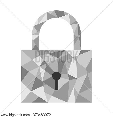 The Padlock. Abstract Padlock Made Of Lines. Vector Illustration.