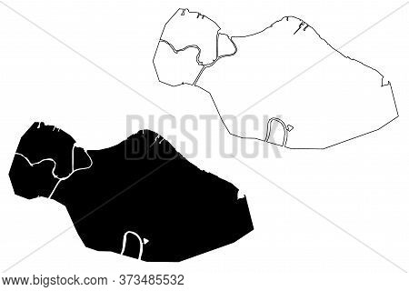 Haiphong City (socialist Republic Of Vietnam) Map Vector Illustration, Scribble Sketch City Of Hai P
