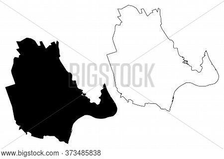 Vinh City (socialist Republic Of Vietnam, Nghe An Province) Map Vector Illustration, Scribble Sketch