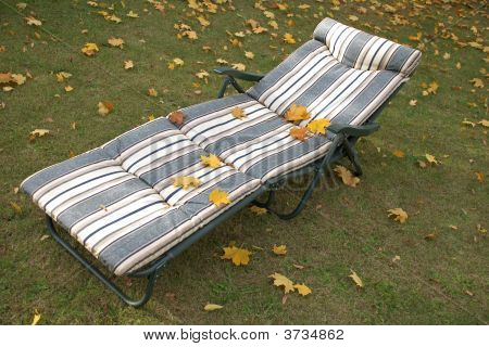 Chaise Lounge In The Autumn
