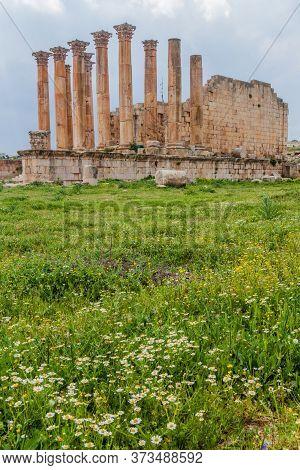 Temple Of Artemis At The Ancient City Jerash, Jordan