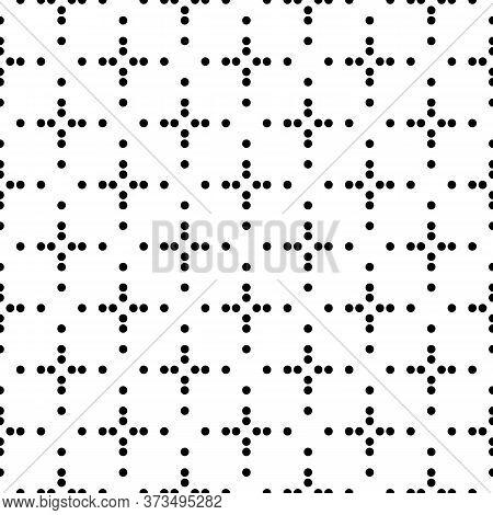 Circles Seamless Pattern. Mini Dots Print. Tribal Ornament. Rounds Background. Dot Backdrop. Dotted