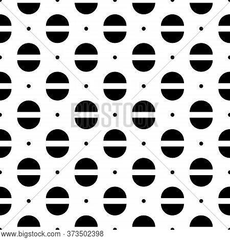 Mini Circles, Semicircles Seamless Pattern. Folk Wallpaper. Ethnic Ornament. Geometrical Background.