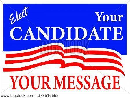 Custom Vote For Sign Election Voting Banner