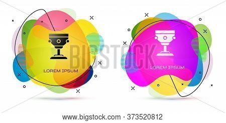Color Christian Chalice Icon Isolated On White Background. Christianity Icon. Happy Easter. Abstract