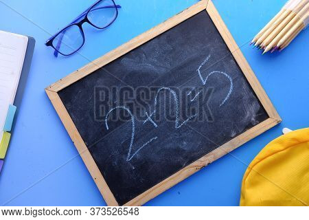 Mistake In Math Formula On Chalkboard, Education Concept