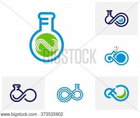 Set Of Infinity Labs Logo Vector Template, Creative Infinity Logo Design Concept