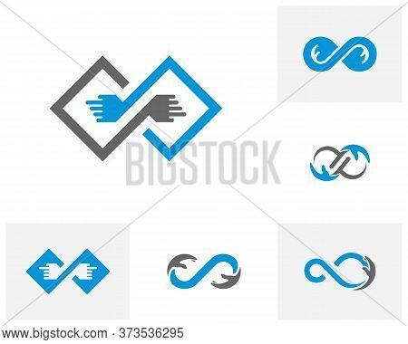 Set Of Infinity Care Logo Vector Template, Creative Infinity Logo Design Concept