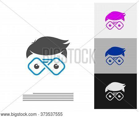 Geek Infinity Logo Vector Template, Creative Geek Logo Design Concept