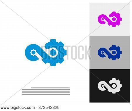 Infinity Gear Logo Vector Template, Creative Infinity Logo Design Concept