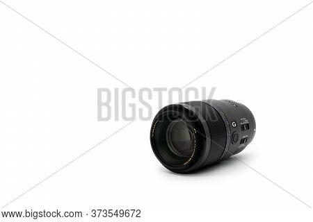 Bangkok, Thailand - 30 Apr 2020, Sony Fe 90mm F2.8 Macro G Oss Lens Is Macro Prime Lens For Sony Ful