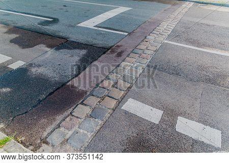 Location Of The Former Berlin Wall At Berlin Wall Memorial Gedenkstatte Berliner Mauer In Berlin, Ge