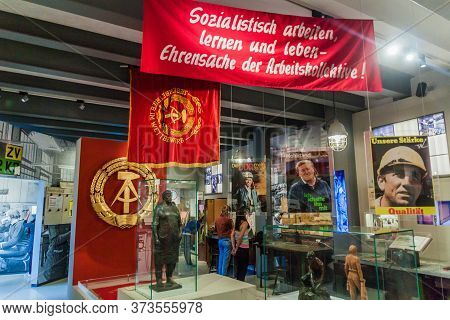 Berlin, Germany - August 12, 2017: Interior Of The Everyday Life In The Gdr Museum In Kulturbrauerei
