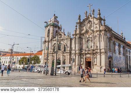 Porto, Portugal - October 16, 2017: Carmo Church In Porto, Portugal.