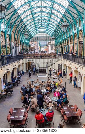 London, United Kingdom - October 4, 2017: View Of Covent Garden Market In London.