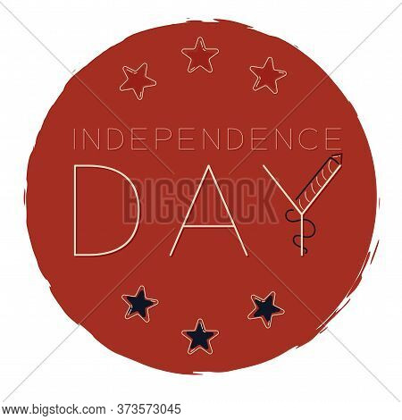 4th July Campaign Button. Independence Day Of Usa - Vector