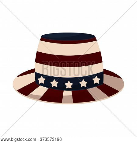 Traditional American Hat. 4th Of July. Independence Day - Vector