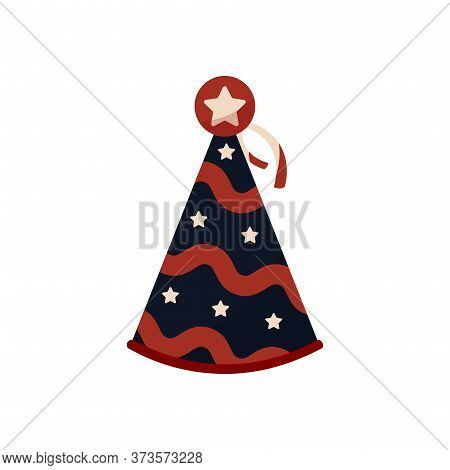 Isolated Party Hat. 4th Of July. Independence Day - Vector