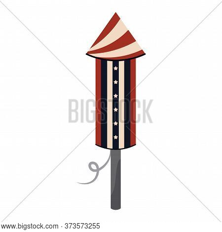 Isolated Rocket Icon. 4th Of July Celebration - Vector