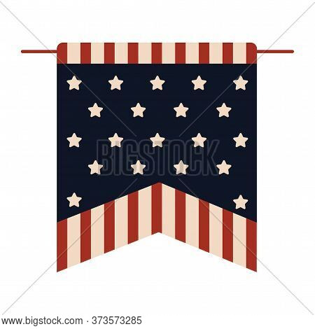 Flag Pennant Of United States. 4th Of July. Independence Day - Vector