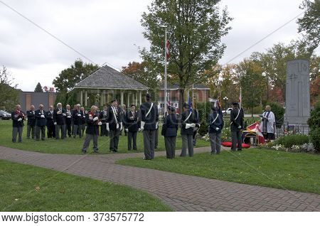 Bracebridge, Ontario / Canada - 09/26/2010: Remembrance Day Ceremonies By The Royal Canadian Legion