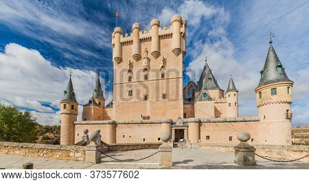 View Of Alcazar Fortress In Segovia, Spain