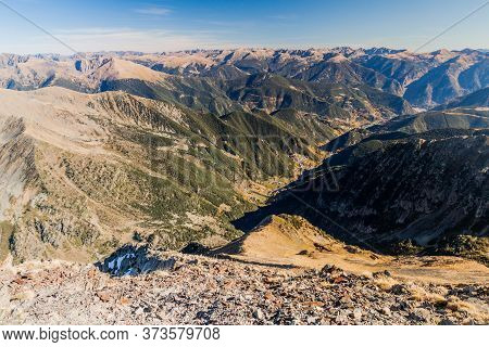 Peaks Of Pyrenees From Coma Pedrosa, Highest Mountain In Andorra