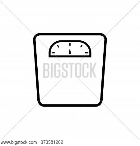 Weight Scale Icon Isolated On White Background. Weight Scale Icon In Trendy Design Style. Weight Sca