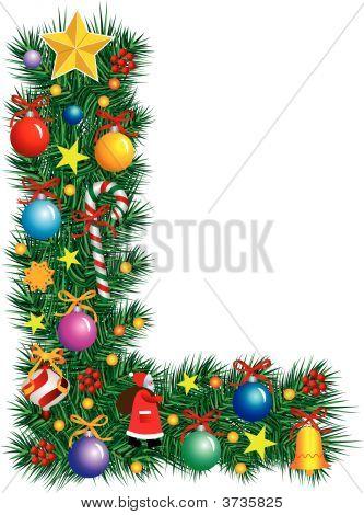 Alphabet Letter L - Christmas Decoration