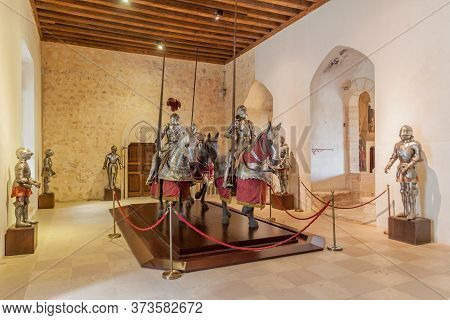 Segovia, Spain - October 20, 2017: One Of The Rooms In The Alcazar Fortress In Segovia, Spain