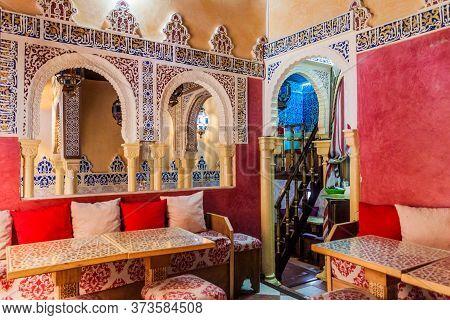 Granada, Spain - November 2, 2017: Interior Of A Teteria Teahouse In Granada.