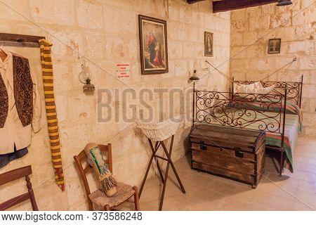 Xaghra, Malta - November 8, 2017: Museum In Ta Kola Windmill In Xaghra Village On Gozo Island, Malta