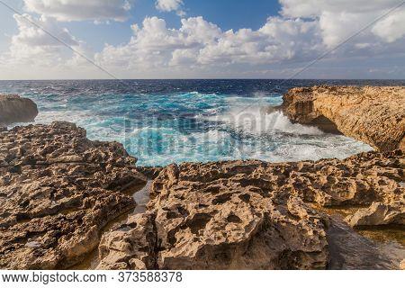 Cliffs Of Dwejra On The Island Of Gozo, Malta