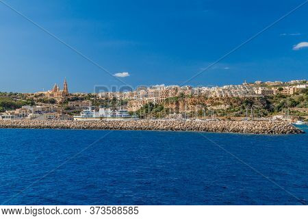 View Of Mgarr Town On Gozo Island, Malta