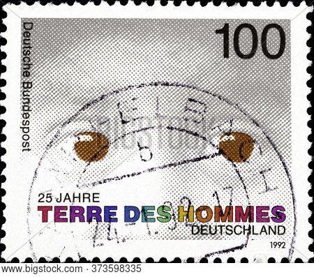 02 10 2020 Divnoe Stavropol Krai Russia Postage Stamp Germany 1992 The 125th Anniversary Of The Foun