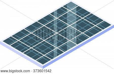 Modern Solar Panel Icon. Isometric Of Modern Solar Panel Vector Icon For Web Design Isolated On Whit
