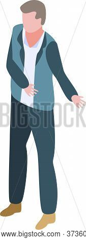 Shop Buyer Icon. Isometric Of Shop Buyer Vector Icon For Web Design Isolated On White Background