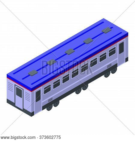 Electric Train Wagon Icon. Isometric Of Electric Train Wagon Vector Icon For Web Design Isolated On
