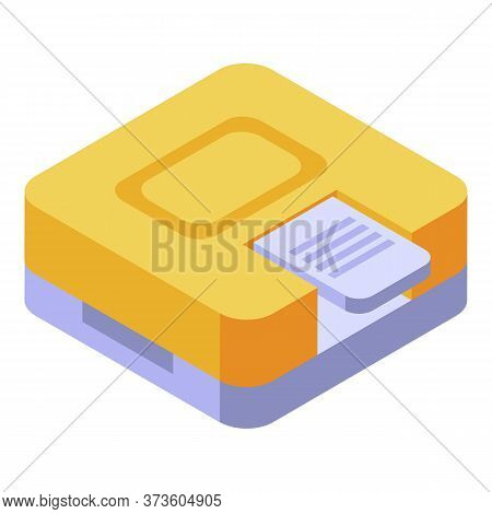 Office Hole Puncher Icon. Isometric Of Office Hole Puncher Vector Icon For Web Design Isolated On Wh
