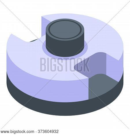 Hole Puncher Accessory Icon. Isometric Of Hole Puncher Accessory Vector Icon For Web Design Isolated
