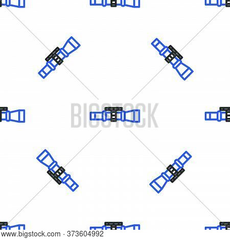 Line Sniper Optical Sight Icon Isolated Seamless Pattern On White Background. Sniper Scope Crosshair