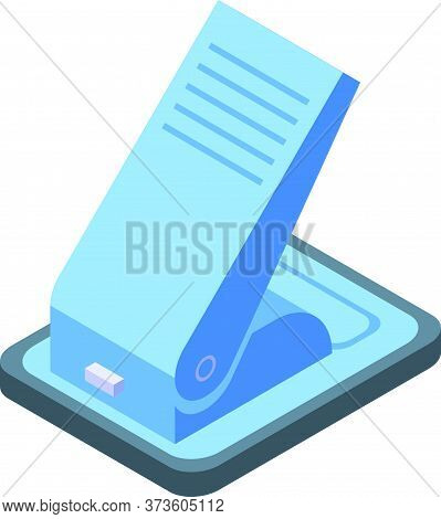 School Hole Puncher Icon. Isometric Of School Hole Puncher Vector Icon For Web Design Isolated On Wh