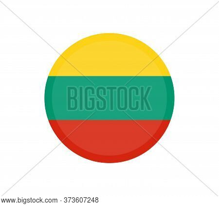 Vector Flag Of Lithuania. National Symbol Of Lithuania. Lithuania Flag, Official Colors And Proporti