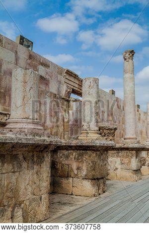 Ruins Of The Roman Theatre In Amman, Jordan