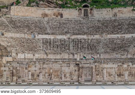 View Of The Roman Theatre In Amman, Jordan