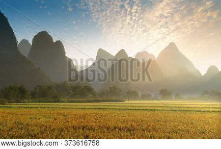 landscape of bama in guangxi,china