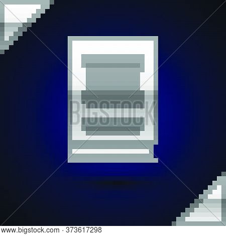 Silver Law Book Icon Isolated On Dark Blue Background. Legal Judge Book. Judgment Concept. Vector Il