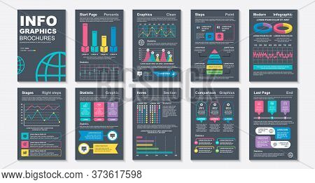 Infographic Brohucres Data Visualization Vector Design Template. Can Be Used For Info Graphic, Resum