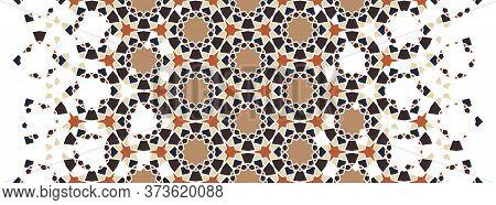 Arab Geometric Flower Star Vector Pattern, Border, Texture, Wallpaper, Decoration. Geometric Arab Ha