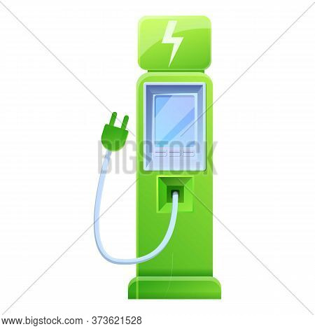 Auto Station Charging Icon. Cartoon Of Auto Station Charging Vector Icon For Web Design Isolated On